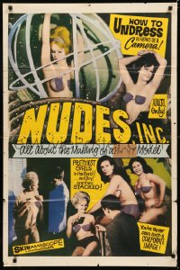 5d0830 NUDES INC. 1sh 1964 how pretty girls undress in front of a camera, Barry Mahon!