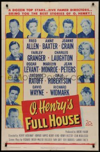 5d0832 O HENRY'S FULL HOUSE 1sh 1952 young Marilyn Monroe pictured with many other top stars!