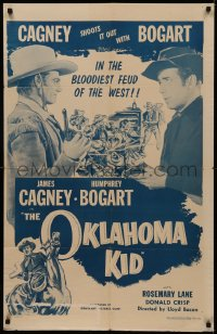 5d0842 OKLAHOMA KID 1sh R1956 James Cagney & Humphrey Bogart in the bloodiest feud of the West!