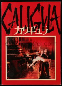 5f0077 CALIGULA Japanese program 1980 Malcolm McDowell, Penthouse's Bob Guccione sex epic!