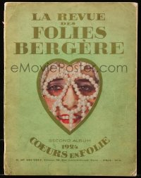5f0015 FOLIES BERGERE stage play French souvenir program book 1924 great images with topless women!