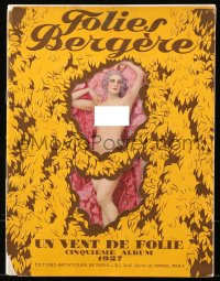 5f0017 FOLIES BERGERE stage show French souvenir program book 1927 topless Josephine Baker in color!