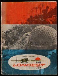 5f0052 LONGEST DAY English souvenir program book 1962 WWII D-Day movie with 42 international stars!