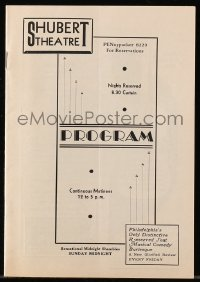 5f0041 MERRIAM THEATER program 1936 featuring Stageland's Most Beautiful Girl, Ann Corio!