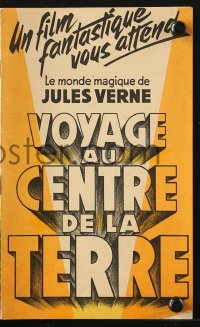 5f0002 JOURNEY TO THE CENTER OF THE EARTH French program 1960 Jules Verne, cool different images!