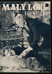 5f0068 LITTLE LORD FAUNTLEROY Czech program 1936 Freddie Bartholomew, Dolores Costello, Rooney
