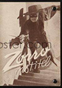 5f0069 MARK OF ZORRO Czech program 1947 masked hero Tyrone Power, Linda Darnell, different images!