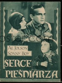 5f0030 SAY IT WITH SONGS Polish program 1929 different images of Al Jolson & Davey Lee, Sonny Boy!