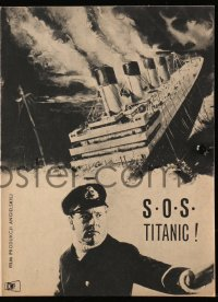 5f0028 NIGHT TO REMEMBER Polish program 1958 English biography, S.O.S. Titanic, Kenneth More!