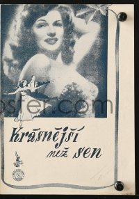 5f0073 YOU WERE NEVER LOVELIER Czech program 1947 sexy Rita Hayworth, Fred Astaire, different!