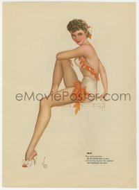 5g0123 ALBERTO VARGAS May/June calendar page 1940s sexy Esquire pin-up art on each side!