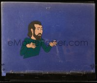 5g0141 GEORGE CARLIN animation cel 1984 great cartoon art of the famous stand-up comedian!