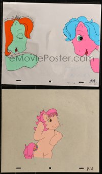 5g0159 MY LITTLE PONY group of 6 animation cels & 4 preliminary sketches 1986 cartoon art!