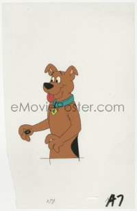 5g0144 SCOOBY-DOO animation cel 1990s cartoon art of the famous crime-solving canine!