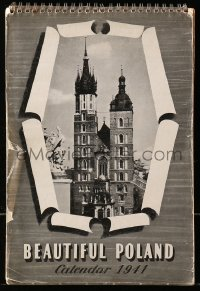 5g0126 BEAUTIFUL POLAND English calendar 1941 images of Polish sights on the eve of World War II!