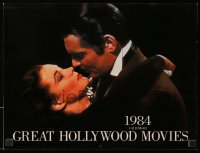 5g0130 GREAT HOLLYWOOD MOVIES calendar 1984 each month has a classic movie scene!