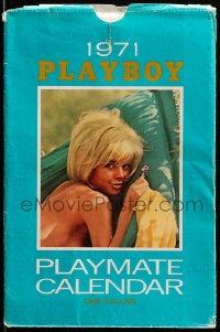 5g0135 PLAYBOY calendar 1971 a different nude Playmate for each month!