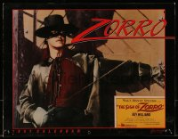 5g0136 SIGN OF ZORRO calendar 1991 Disney, masked hero Guy Williams, different image each month!