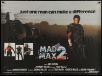 5h0053 MAD MAX 2: THE ROAD WARRIOR British quad 1982 Mel Gibson returns as Mad Max, cool image!