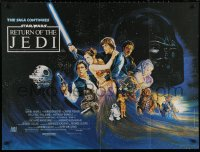 5h0055 RETURN OF THE JEDI British quad 1983 Lucas' classic, different art by Kirby including Ewok!