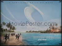 5h0056 ROGUE ONE teaser DS British quad 2016 Star Wars Story, Jones, great use of horizontal format!