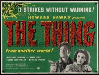 5h0058 THING British quad R1960s From Another World, Howard Hawks' classic horror, ultra rare!