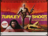 5h0059 TURKEY SHOOT British quad 1972 Steve Railsback, Olivia Hussey, humans are the prey!