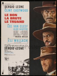 5h0069 GOOD, THE BAD & THE UGLY French 23x31 R1970s Clint Eastwood, Lee Van Cleef, Sergio Leone!