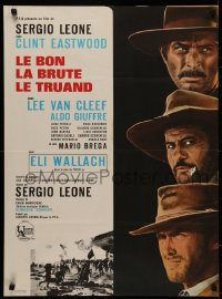 5h0068 GOOD, THE BAD & THE UGLY French 23x31 1968 Eastwood, Lee Van Cleef, Wallach, Leone classic!
