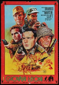5h0016 YOUNG LIONS Iranian 1980s different art of Nazi Marlon Brando, Martin & Montgomery Clift!