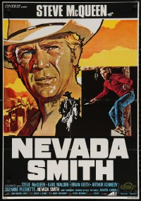 5h0037 NEVADA SMITH Italian 1sh R1970s McQueen drank and killed and loved & never forgot, different!