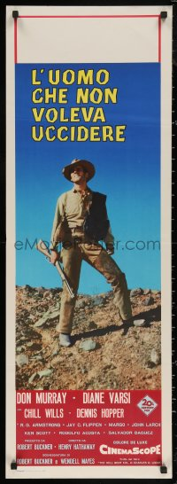 5h0040 FROM HELL TO TEXAS Italian 14x39 1958 different full-length image of Don Murray w/rifle!