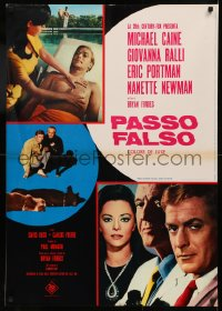 5h0043 DEADFALL Italian 26x37 pbusta 1968 Michael Caine, Giovanna Ralli, directed by Bryan Forbes!
