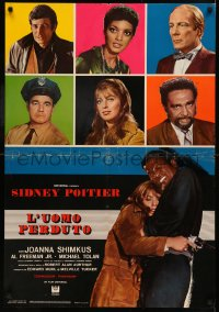 5h0046 LOST MAN Italian 26x38 pbusta 1969 Poitier crowded a lifetime into 37 suspensful hours!