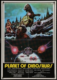 5h0019 PLANET OF DINOSAURS Lebanese 1978 X-Wings & Millennium Falcon art from Star Wars by Tino Aller