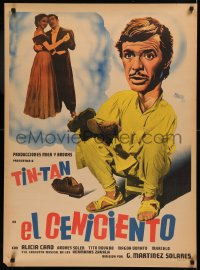 5h0003 EL CENICIENTO Mexican poster 1952 different Josep Renau artwork of German Valdes as Tin-Tan!