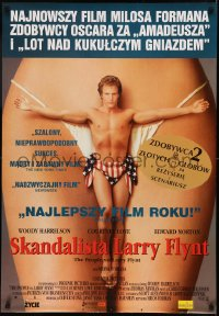 5h0031 PEOPLE VS. LARRY FLYNT Polish 27x39 1997 Woody Harrelson as the founder of Hustler Magazine!
