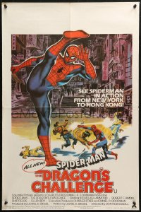 5j0024 SPIDER-MAN: THE DRAGON'S CHALLENGE English double crown 1980 Spidey by Graves, ultra rare!