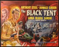 5j0022 BLACK TENT English 1/2sh 1957 soldier Anthony Steele marries the Sheik's daughter, cool art!