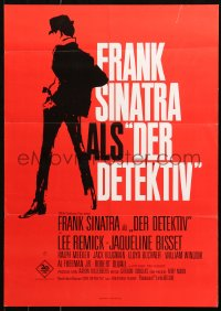 5j0030 DETECTIVE German 17x23 1968 Frank Sinatra as gritty New York City cop, completely different!