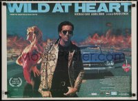 5j0002 WILD AT HEART Romanian 1990 David Lynch, Nicolas Cage & Laura Dern, different!