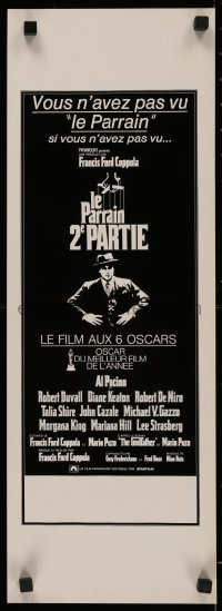 5j0025 GODFATHER PART II Swiss 1975 Francis Ford Coppola classic crime sequel, French language!