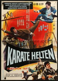 5j0008 CHAOCHOW GUY Taiwanese poster 1975 different karate martial arts action art!