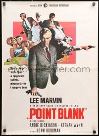 5j1156 POINT BLANK Yugoslavian 20x27 1967 images of Lee Marvin, Angie Dickinson, John Boorman film noir!