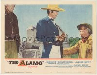 5k0881 ALAMO LC #6 1960 c/u of Laurence Harvey as William Travis with Richard Widmark as Jim Bowie!
