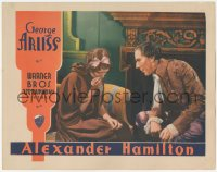 5k0883 ALEXANDER HAMILTON LC 1931 George Arliss tries to comfort crying June Collyer!