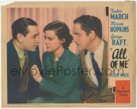 5k0886 ALL OF ME LC 1934 close up of pretty Helen Mack between George Raft & Fredric March!