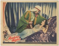 5k0893 ARABIAN NIGHTS LC 1942 best romantic close up of Jon Hall leaning over sexiest Maria Montez!