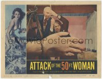 5k0900 ATTACK OF THE 50 FT WOMAN LC #2 1958 great special effects image of giant hand attacking!