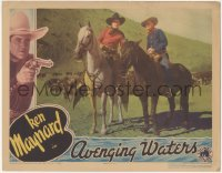 5k0902 AVENGING WATERS LC 1936 great image of cowboys Ken Maynard & Wally Wales on their horses!